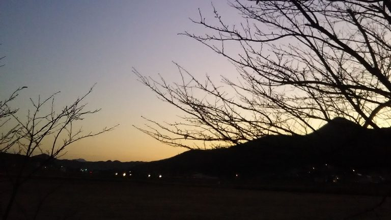 2020 Winter The sight of early Hasami morning